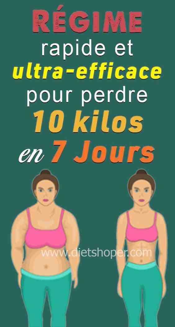 Comment perdre 10 kilos le plus vite possible?